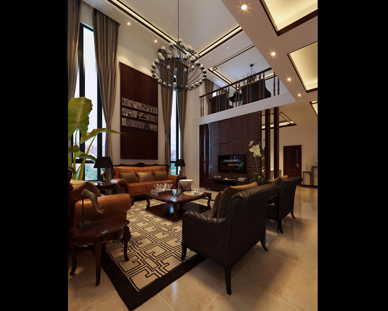 中式客厅装修图_酷家乐装修效果图3fo4k7yw60ab