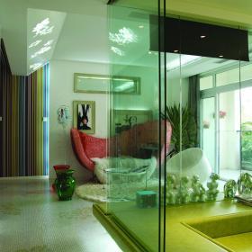 现代简约后现代走廊多功能室效果图