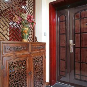 中式玄关隔断玄关柜装修效果展示