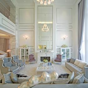 欧式客厅别墅图片