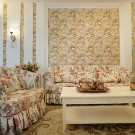 欧式田园客厅沙发装修图