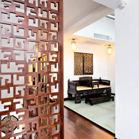 新中式玄关隔断玄关柜设计案例