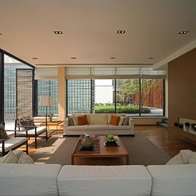新中式客厅别墅装修图