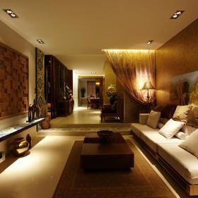 东南亚客厅设计图