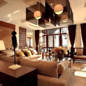 东南亚客厅效果图