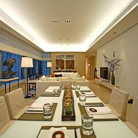 现代简约欧式简欧客厅餐厅设计案例展示