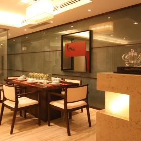 现代简约餐厅背景墙装修图