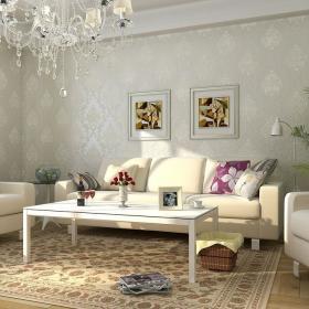 客厅壁纸装修图