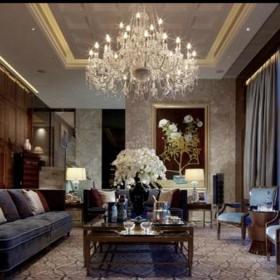 欧式新古典美式客厅设计案例