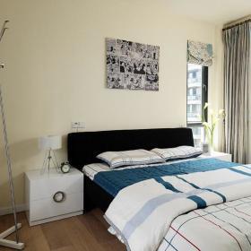 现代简约卧室飘窗&落地窗装修效果展示