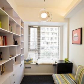 现代简约书房飘窗&落地窗装修图
