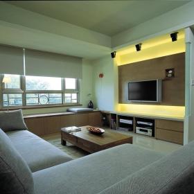 现代简约客厅飘窗&落地窗装修效果展示