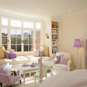 简欧卧室飘窗&落地窗单人沙发设计案例展示