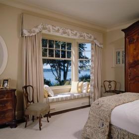 美式卧室飘窗&落地窗装修效果展示