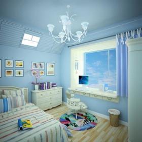 地中海儿童房飘窗&落地窗图片