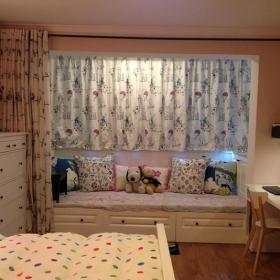 现代简约田园卧室飘窗&落地窗设计方案