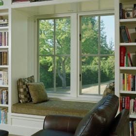 现代简约美式书房飘窗&落地窗设计案例展示