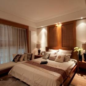 中式卧室飘窗&落地窗设计案例展示