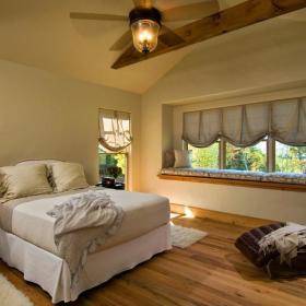 美式卧室飘窗&落地窗图片