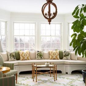 简欧客厅飘窗&落地窗设计方案