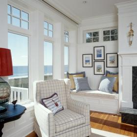 现代简约简欧飘窗&落地窗单人沙发装修效果展示