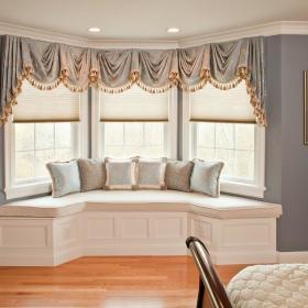 欧式卧室飘窗&落地窗设计图