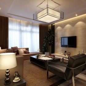 现代简约客厅电视墙装修案例