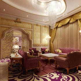 欧式客厅--高清效果图-欧式 (73)