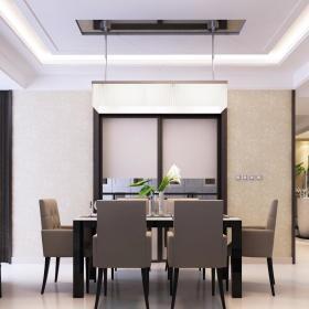 现代简约餐厅吊顶设计图