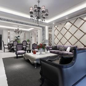 欧式新古典洛可可客厅图片