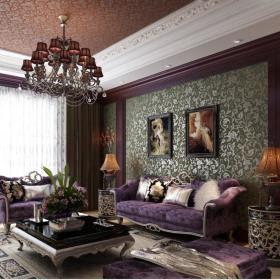 欧式客厅--高清效果图-欧式 (658)