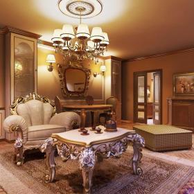欧式客厅--高清效果图-欧式 (676)