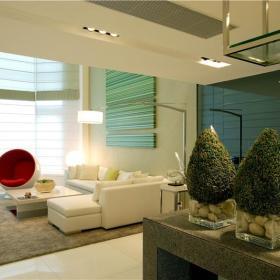 现代简约客厅植物图片