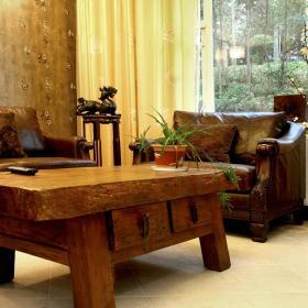 中式复古客厅设计图
