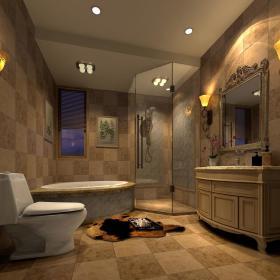 欧式卫生间浴室淋浴房设计图