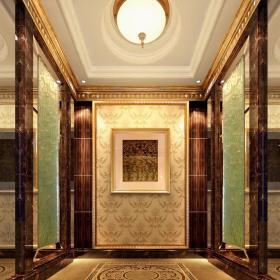 欧式玄关玄关柜装修效果展示