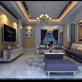 欧式复古客厅设计案例展示
