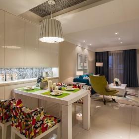 现代简约餐厅餐桌设计方案