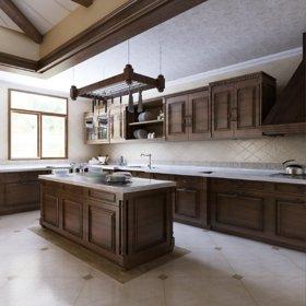 美式厨房别墅装修图
