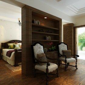 美式卧室别墅台灯储物柜案例展示
