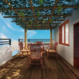 中式新古典跃层阳光房门窗设计图
