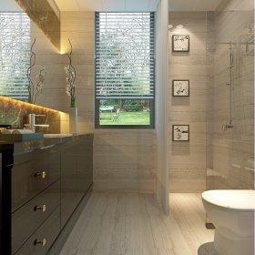 卫生间浴室梳妆台灯具淋浴房装修效果展示