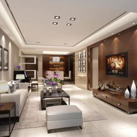 现代简约客厅吊顶案例展示