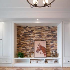 美式卧室背景墙衣柜设计案例